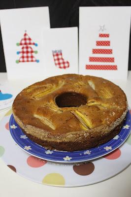 bolo de maça com banana e garnola