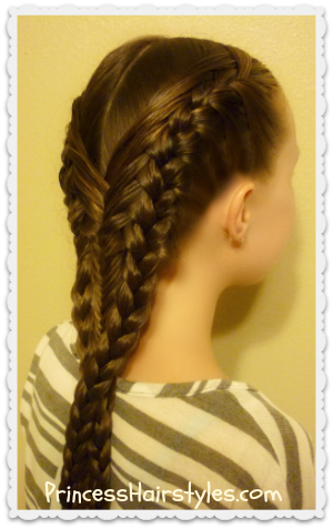 Mermaid Braid, Fishtail and French Braid Combo
