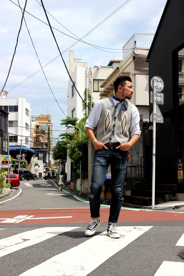 ortegaschimayovest オルテガズチマヨブランケットベストgreenangle menswear mensstore harajuku原宿
