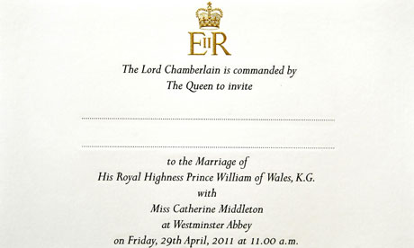 royal wedding invitation picture. royal wedding invitation list.