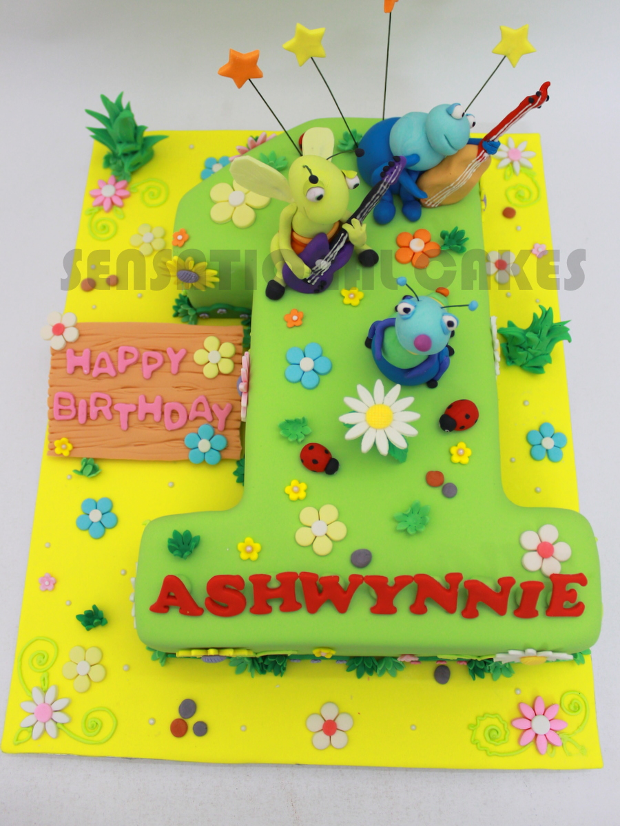 The Sensational Cakes SHAPE NUMBER 1 3D CAKE SINGAPORE BABY 1ST