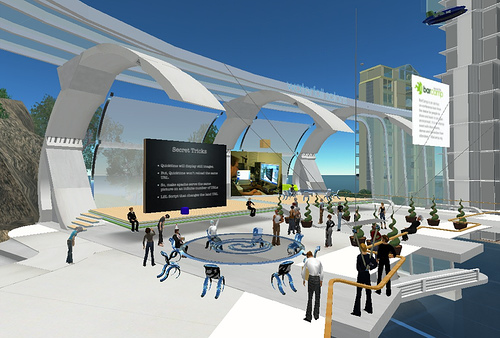 El tridente azul second life for Arquitectura virtual