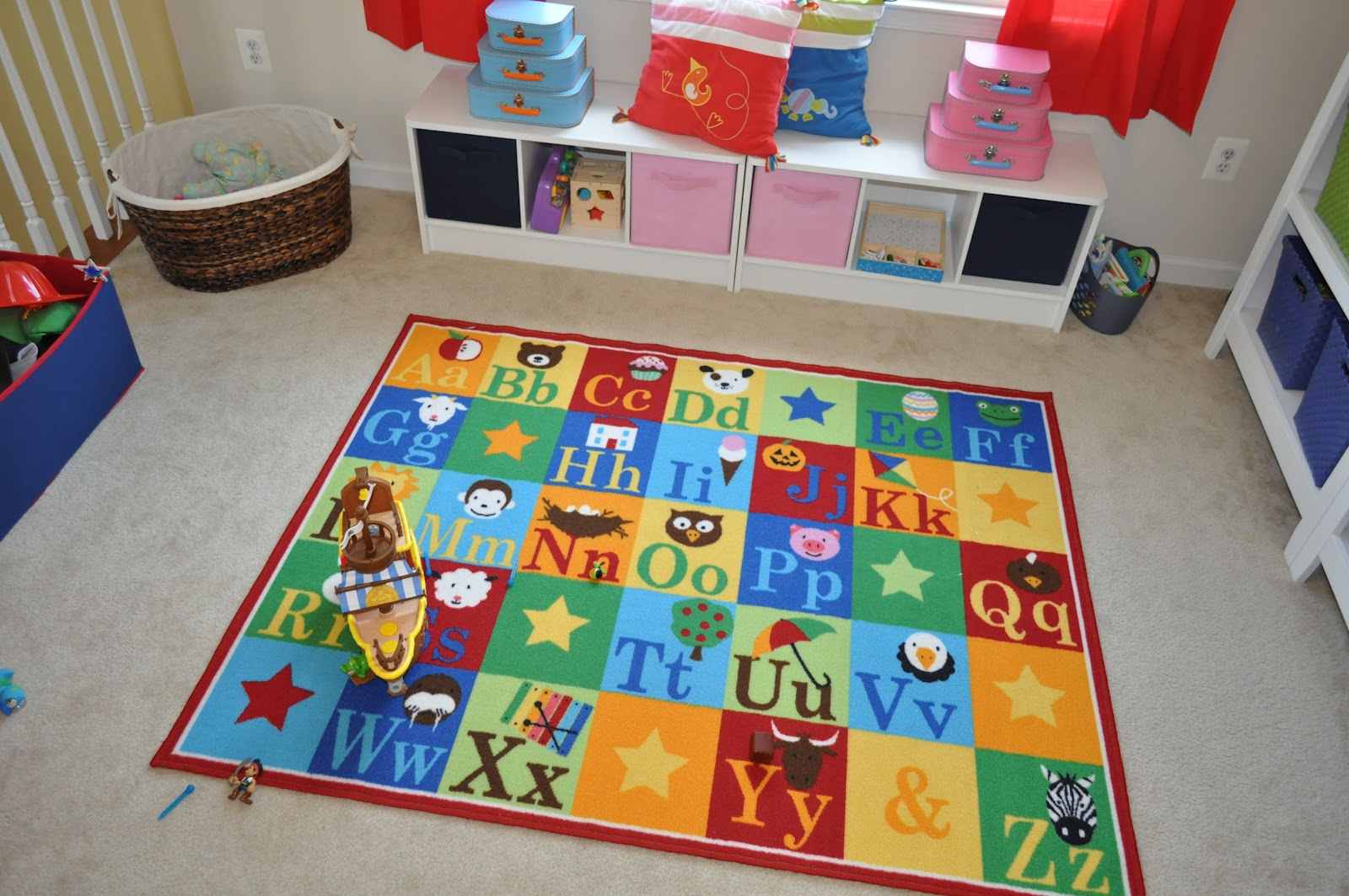 this crazy little life of ours peak into our playroom clroom carpets abc  squares abc. Kids Rug 115 X 165cm Cars And Trucks    Alphabet Blues Classroom