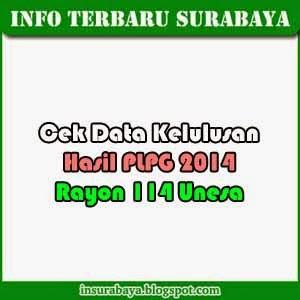 cek data kelulusan hasil plpg rayon 114 unesa 2014