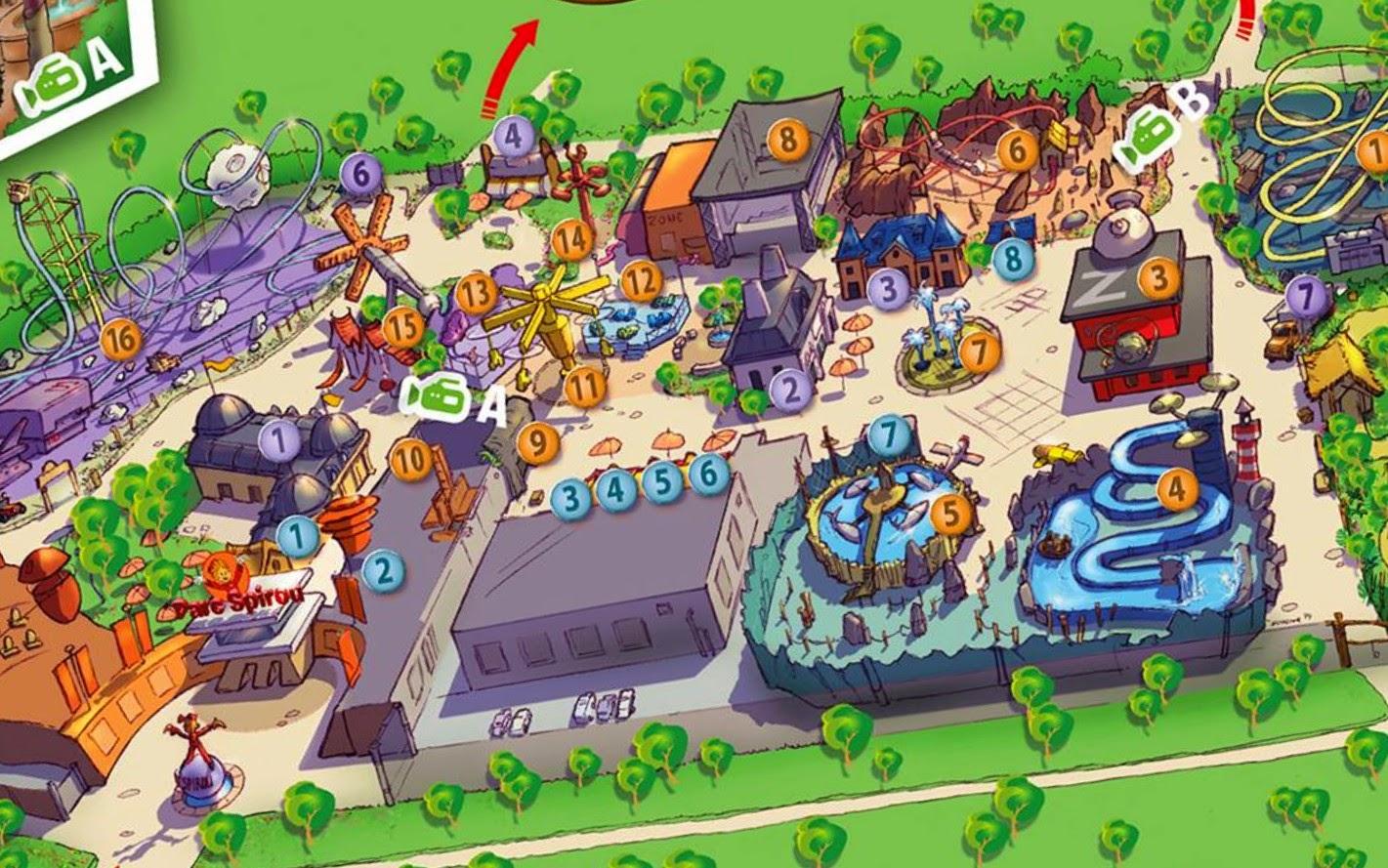 Parks Trip Le Parc Spirou D 233 Voile Son Plan Officiel