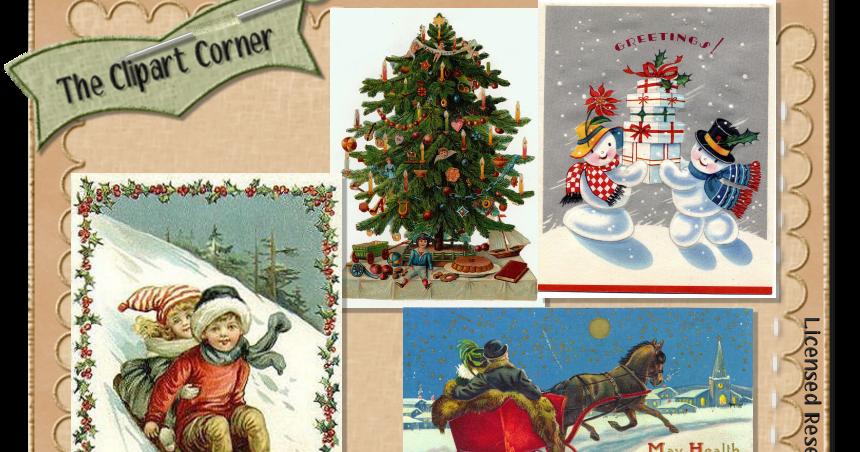 The Clipart Corner Vintage Christmas Grab Bag Clip Art Images