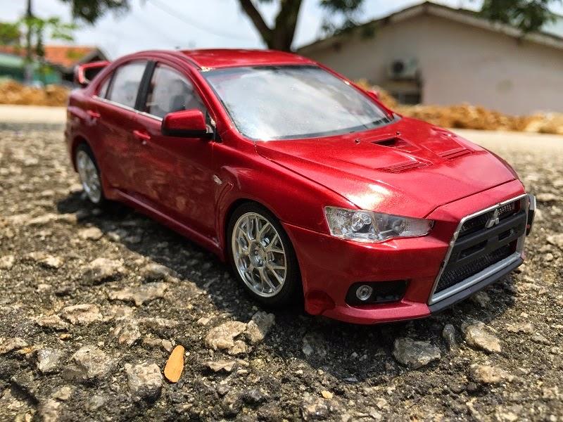 Mitsubishi EVO X diecast