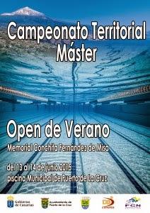 Ntc natacion canaria regional master de verano memorial for Piscina municipal puerto de la cruz