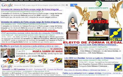 Máfia Portuguesa; Político Negócios; Norte; Padre; Banco BES Perdoa Dívida; Vereador do CDS; Eleito Ilegalmente á Câmara do Porto; Máfia Portuguesa, Político Negócios Corrupção; Corrupção