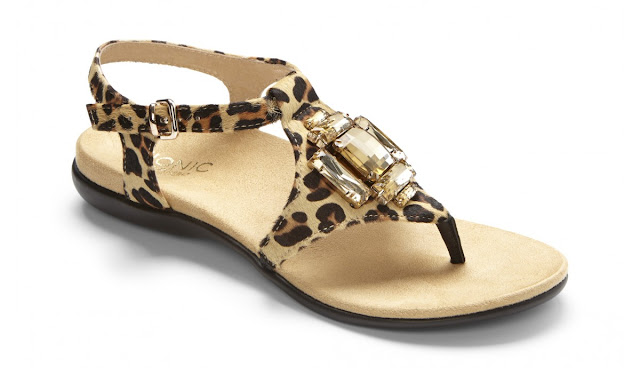Vionic orthotic leopard comfort sandal
