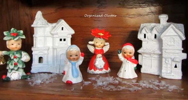 Vintage Christmas Angels & Figurines www.organizedclutterqueen.blogspot.com