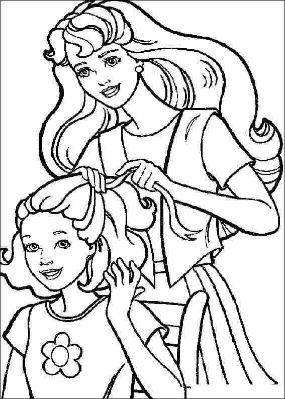 barbie doll coloring pages - barbie coloring pages learn to coloring