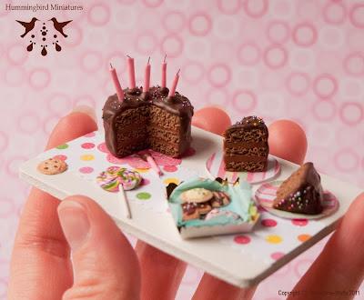 Hummingbird Miniatures Birthday Cake Board
