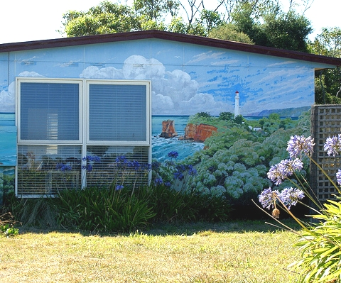 Painted houses exterior home painting ideas with a sea for Exterior mural painting