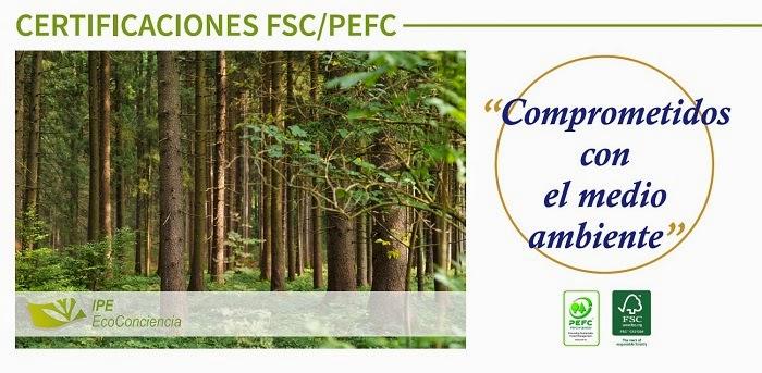 IPE fabricante etiquetas obtiene sellos FSC y PEFC