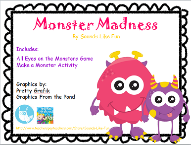 http://www.teacherspayteachers.com/Product/Monster-Madness-1515947