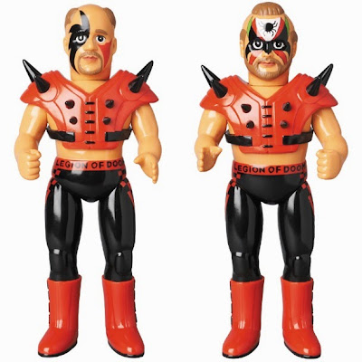The Legion of Doom WWE Sofubi Vinyl Figures by Medicom - Road Warrior Hawk & Road Warrior Animal
