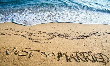 just married - Odds of Finding Love At A Wedding (Infographic)