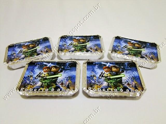 lembrancinhas personalizadas star wars lego marmitinhas