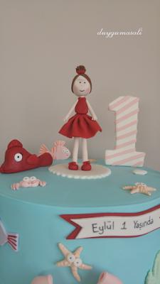 1 yaş doğum günü butik pasta