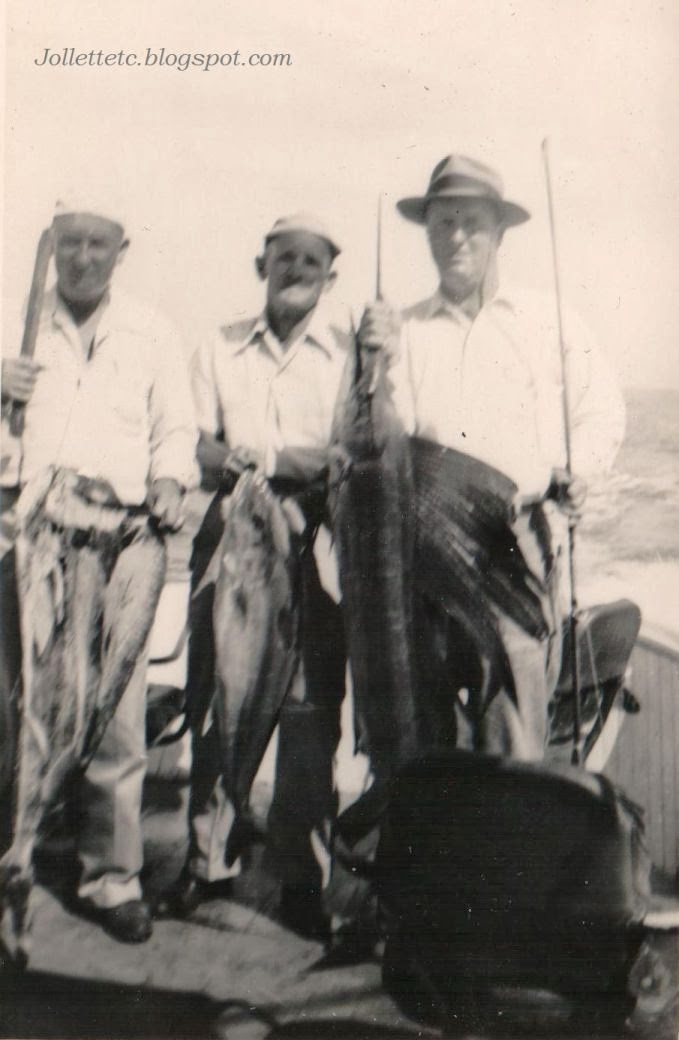 Fred Slade and friends fishing trip 1951