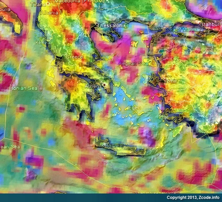Ο χάρτης κοιτασμάτων φυσικού αερίου