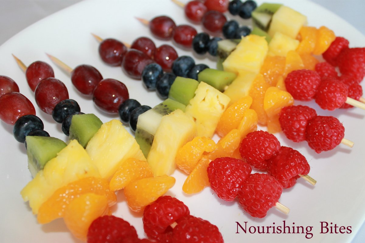 Nourishing Bites: Rainbow Fruit Kabobs