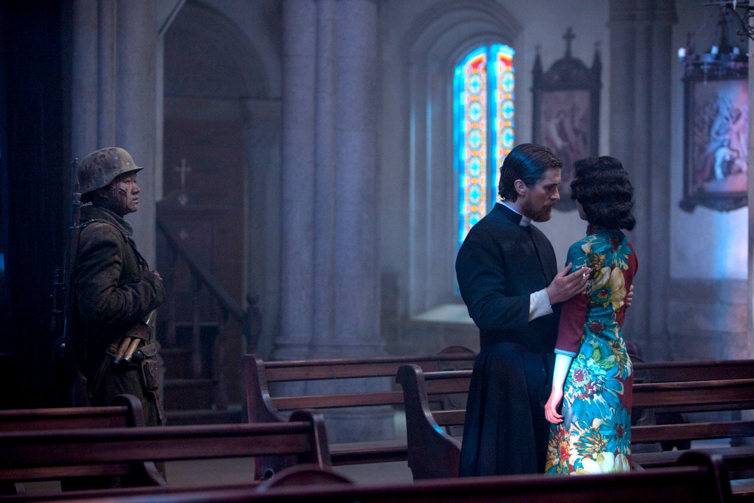 Beautiful New Still From The Flowers War Christian Bale