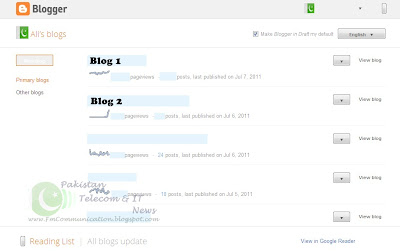 Blogspot Blogger New Dashboard