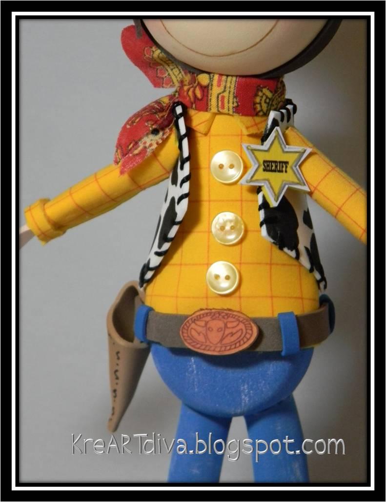 KreARTdiva: Fofucho Woody, Toy Story.