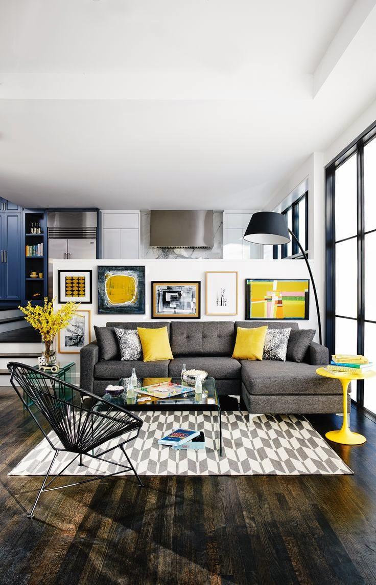 Modern mor renkli banyo dekorasyonu ev dekorasyonu dizayn - Daha Modern Bir Salon Dekorasyonu I In Gri Sar Ikilisinin Koyu Tonlar N Kombinleyebilirsiniz