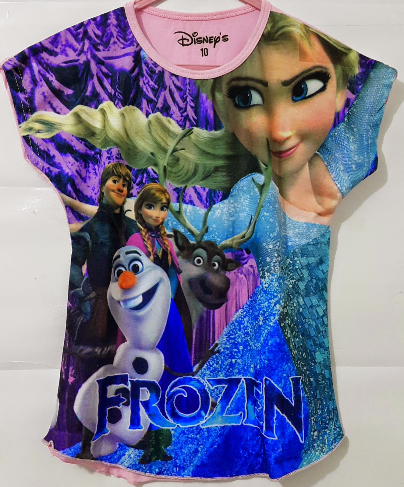 grosir kaos anak batwing frozen