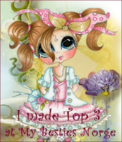 Blue and Pink Girly Card