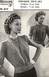 wartime knitting sleeves