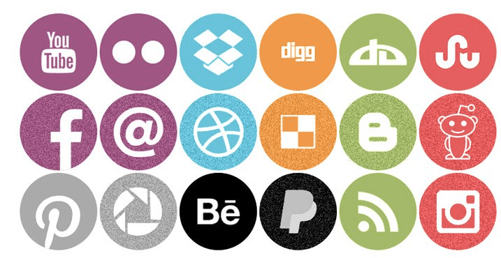 Free Round Flat Icons PSD