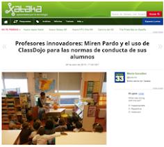 XATACA Profesores innovadores: MIREN PARDO Y ClassDojo 2015