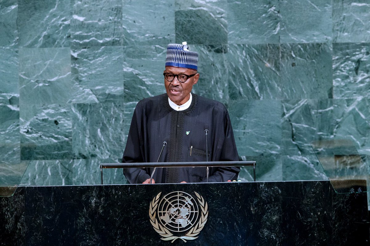PRESIDENT BUHARI ADDRESSES THE United Nations