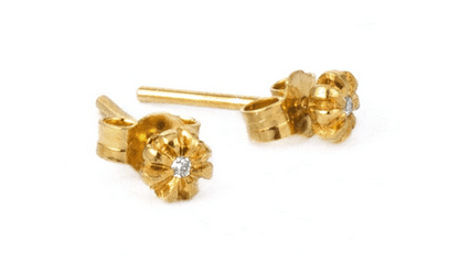 Jewellery Every Woman Should Own: Alex Monroe Diamond Flower Bud Stud Earrings