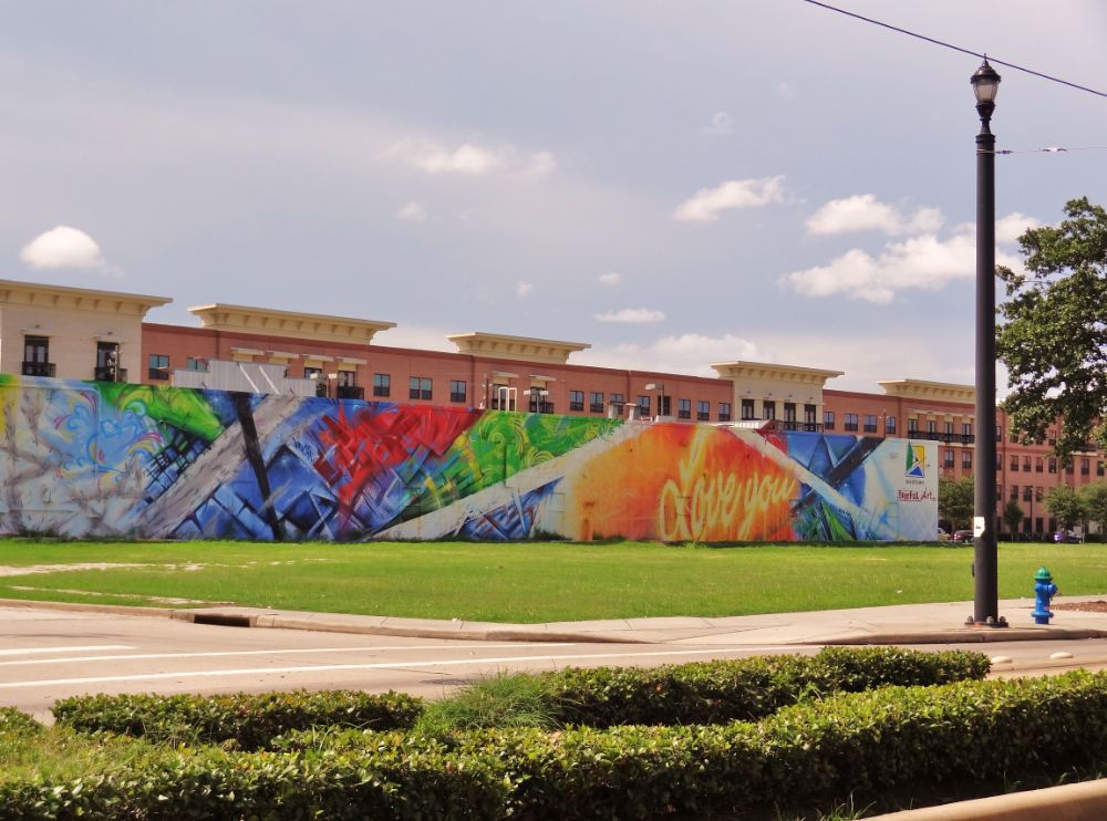 Murals that we lost early houston love and hope for Mural on building