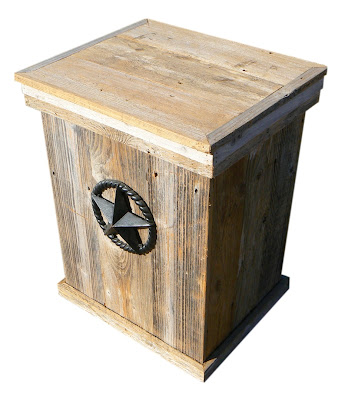 Wood Outdoor Trash Can