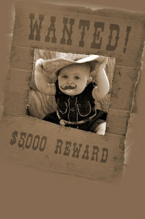 Scrappin' 2 baby girls: Wanted Sign