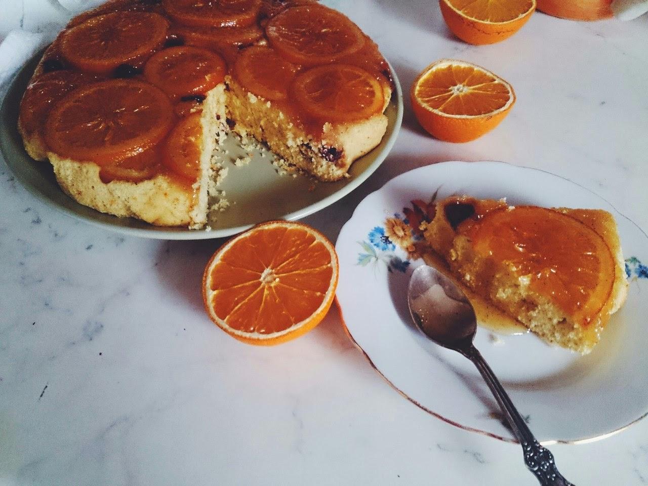Апельсиновый пирог перевертыш рецепт
