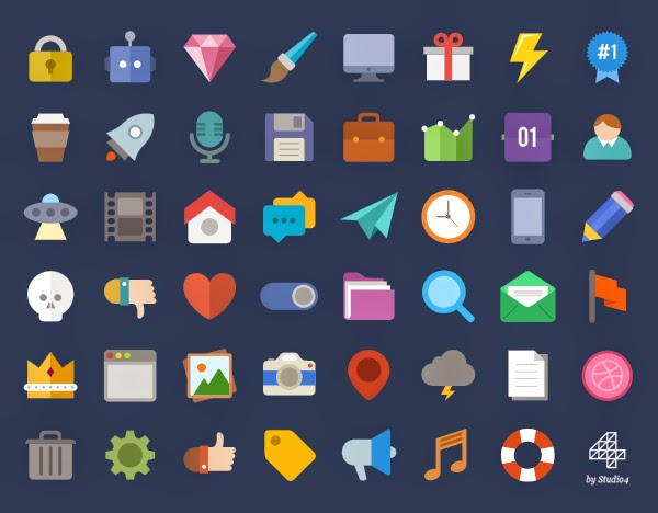Free Flat Icons by Studio4 | Creative ... download icon .ico gratis terbaru