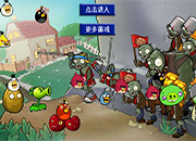 Plants vs Zombies Angry Birds 3