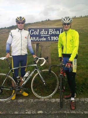 Florian et moi au col du Béal