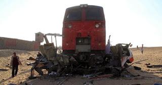 اخبار حادثة قطار دهشور اليوم 18-11-2013 بالصور والفيديو
