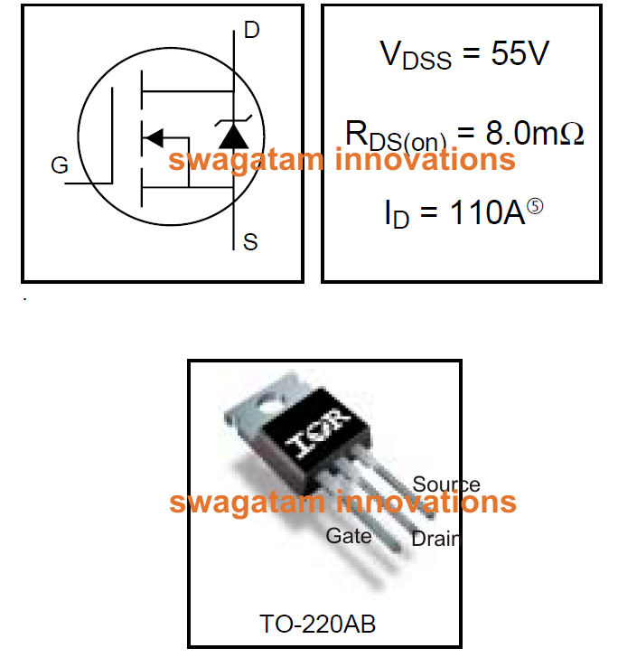 55v 110a N Channel Mosfet Irf3205 on avalanche transistor