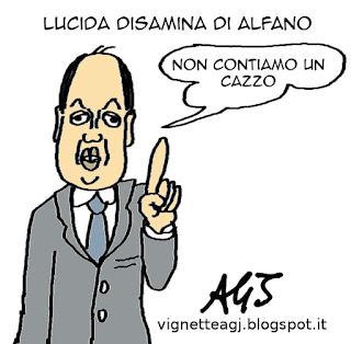 Alfano, elezioni regionali, NCD, satira , vignetta