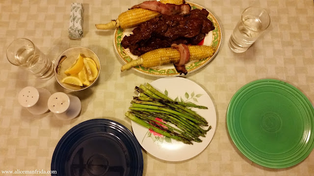 steak, corn, grilled, grilling, summer, dinner, healthy, what I ate