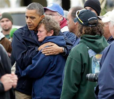 President Obama Visits Hurricane Sandy Victims